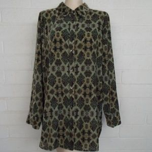 Soft Surroundings XL boho velvet tunic blouse